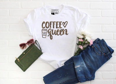 Coffee Queen Cheetah - Leopard Print T-shirt - Beyond Measure Living