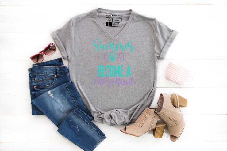 Summer Goals: Become a Mermaid T-Shirt - Beyond Measure Living