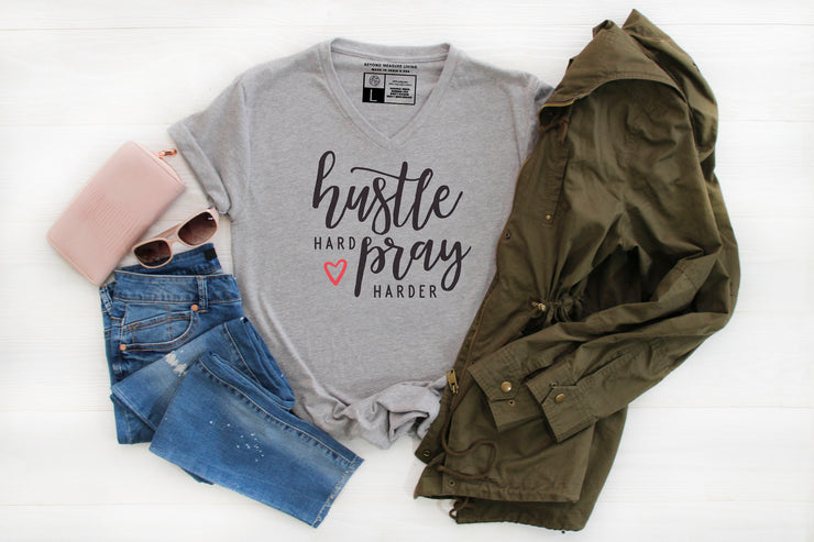 Hustle Hard Pray Harder T-Shirt - Beyond Measure Living