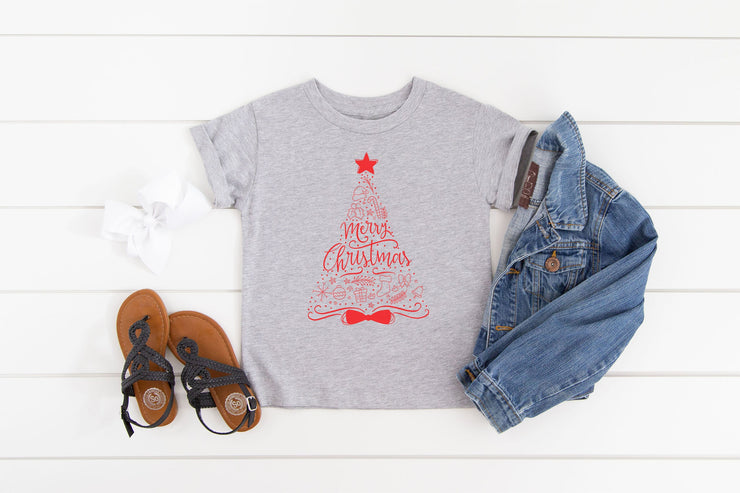 Red Christmas Tree T-Shirt - Beyond Measure Living