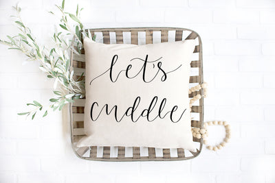 "Let's Cuddle- Square Pillow Cover | 18""x18"" - Beyond Measure Living"