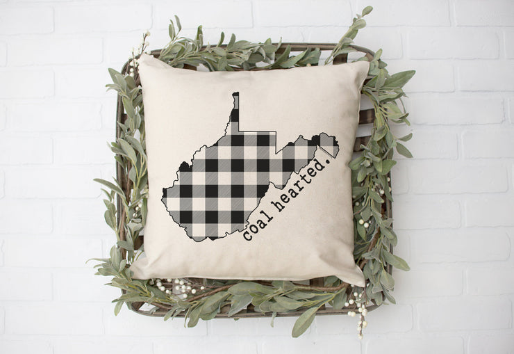 "Coal Hearted- Square Pillow Cover | 18""x18"" - Beyond Measure Living"
