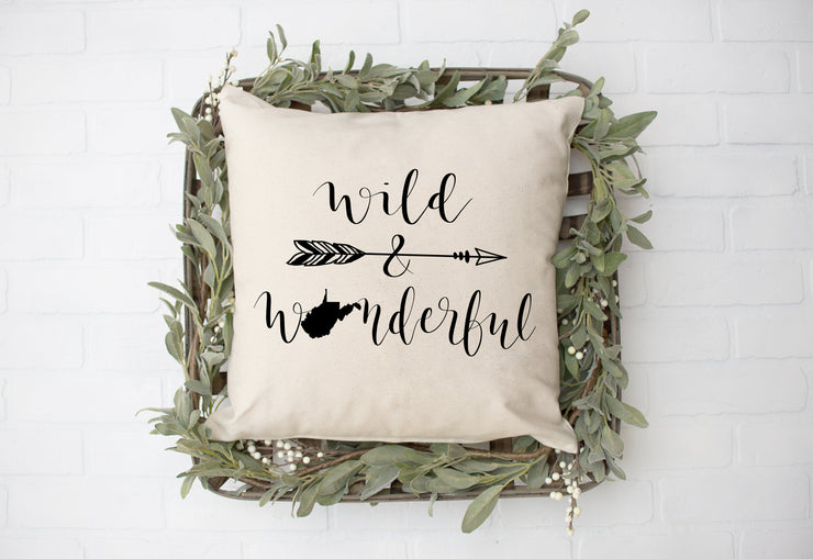 "Wild and Wonderful Square Pillow Cover | Natural Linen Color | 18""x18"" - Beyond Measure Living"