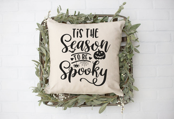 "Tis The Season to Be Spooky- Square Pillow Cover | 18""x18"" - Beyond Measure Living"