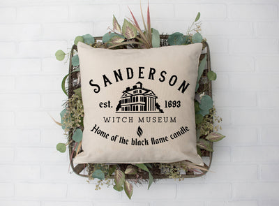 "Sanderson Sister Witch Museum- Square Pillow Cover | 18""x18"" - Beyond Measure Living"