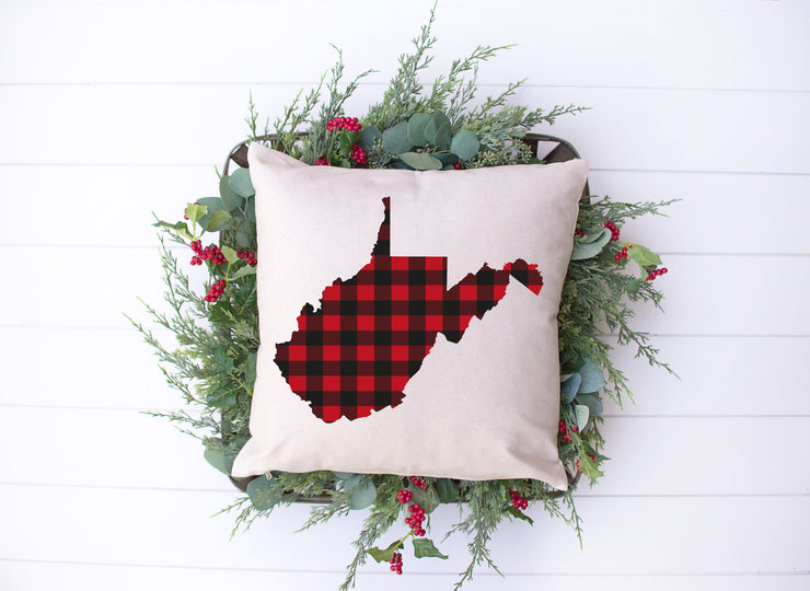 "Red & Black Plaid- Square Pillow Cover | 18""x18"" - Beyond Measure Living"