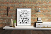 I Found The One Whom My Soul Loves | Hand Lettered Bible Page | Song of Solomon 3:4 | Unframed 5x7, 8x10, or 11x14 | White or Antique Paper - Beyond Measure Living