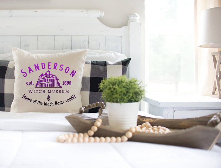 "Sanderson Sister Witch Museum Purple - Square Pillow Cover | 18""x18"" - Beyond Measure Living"