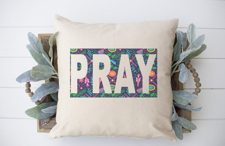 "Pray Pillow- Square Pillow Cover | 18""x18"" - Beyond Measure Living"
