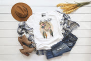 Stay Wild | Cute Fall T-Shirt | V-Neck or Crew Neck | Luxury Soft Unisex Fit - Beyond Measure Living