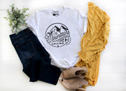 The Mountains are Calling | Cute Fall T-Shirt | V-Neck or Crew Neck | Luxury Soft Unisex Fit - Beyond Measure Living
