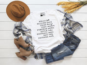 Hello Fall, Falling Breeze  | Cute Fall T-Shirt | V-Neck or Crew Neck | Luxury Soft Unisex Fit - Beyond Measure Living