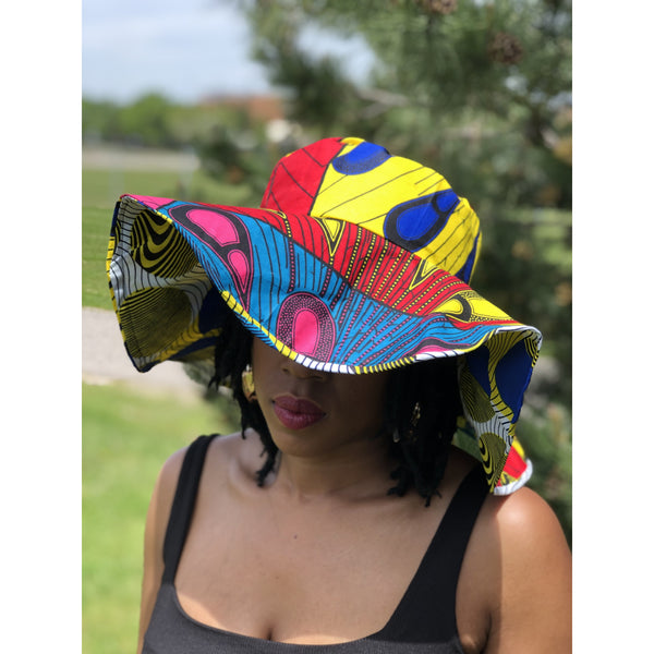 Sally Reversible Ankara Sun Hat