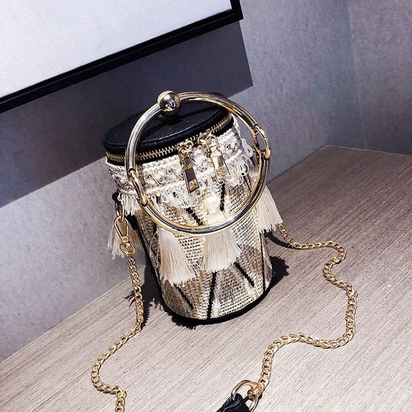 Sade Tassel Bucket Clutch