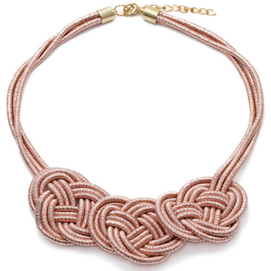 Rose Gold Looped Rope Necklace