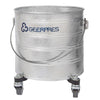 "CHAMP MOP BUCKET 8 GAL GALVANIZ METAL ON 2"" CASTERS 1/CS 2023"