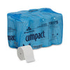 19375 COMPACT CORELESS WHT 2PLY BATH TISSUE 36RL/1000/CS
