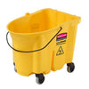 WAVEBRAKE BUCKET W/CASTER 35QT YELLOW 4/PK FG757088YEL