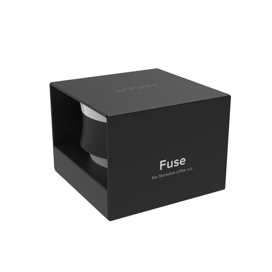 Fuse 6oz stackable Coffee Cup Black - Affnyt