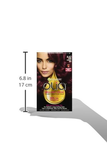 Garnier Olia Ammonia Free Brilliant Color Oil Rich Permanent Hair Color, 4.62 Dark Garnet Red (Pack