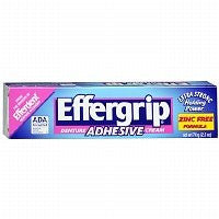 Effergrip Extra Strong Denture Adhesive Cream, Zinc Free, 2.5 Oz   2pc