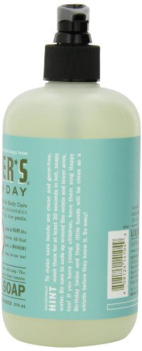 Mrs. Meyers Clean Day Liquid Hand Soap, Basil, 12.5 Ounce Bottles (Case Of 6)