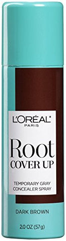 L'oreal Paris Root Cover Up Temporary Gray Concealer Spray Dark Brown 2 Oz (Pack Of 2) (Packaging Ma
