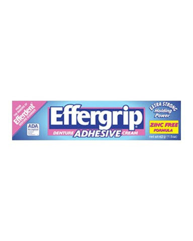 Effergrip Denture Adhesive Cream: 1.5 Oz