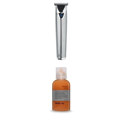 Wahl Lithium Ion Stainless Steel Groomer And Anthony Facial Scrub, 2 Oz.