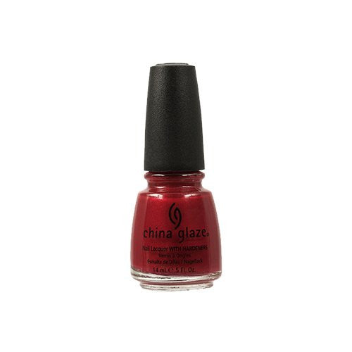China Glaze Nail Polish, Go Crazy Red, 0.5 Fluid Ounce