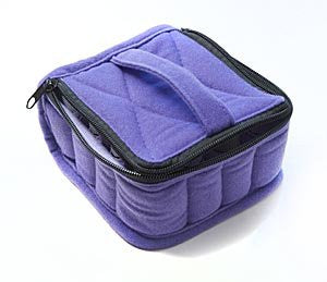 16 Bottle Essential Oil Carrying Cases Hold 5ml, 10ml And 15ml Bottles   Deep Purple With Lavender I