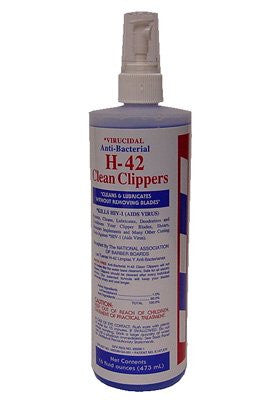 H42 Clean Clippers * Virucidal Anti Bacterial * 16 Oz. By H 42