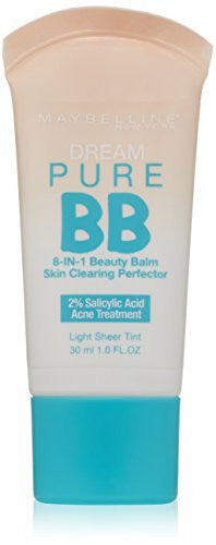 Maybelline New York Dream Pure Bb Cream Skin Clearing Perfector, Light, 1 Floz (Packaging May Vary)