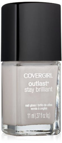 Covergirl Outlast Stay Brilliant Nail Gloss, Silver Lining 195, 0.37 Ounce