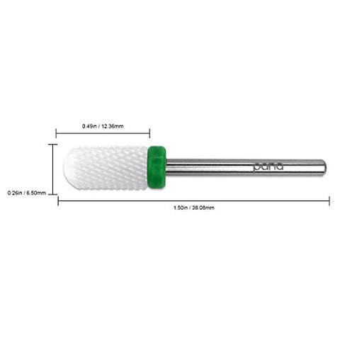 Pana Professional Usa Ceramic White Smooth Top Large Barrel Bit Nail Drill (Grit: Coarse) 3/32