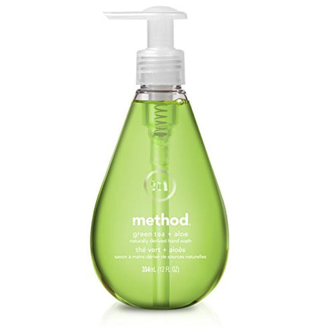 Method Gel Hand Soap, Green Tea + Aloe, 12 Fl Oz (Pack Of 6)