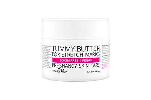 Tummy Butter Stretch Mark Prevention Cream   Safe For Pregnancy   C Section Scar Lotion For Dry Preg