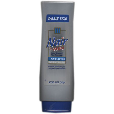 Nair For Men, Extra Strength Hair Remover, 4 Minute Lotion, 10 Fl Oz