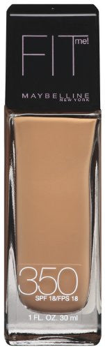 Maybelline New York Fit Me! Foundation, 350 Caramel, Spf 18, 1 Fluid Ounce