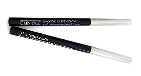 2 Clinique Quickliner for Eyes Intense Eye Liner - Travel Size 0.005 oz. / 0.14g Each, Unboxed