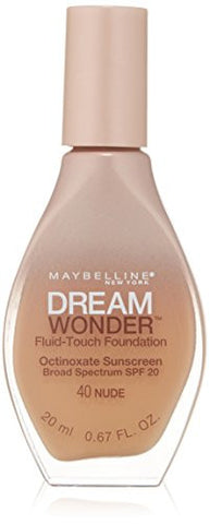 Maybelline New York Dream Wonder Fluid Touch Foundation, Nude, 0.67 Fluid Ounce
