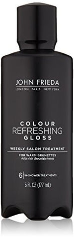 John Frieda Colour Refreshing Gloss, Cool Brunette, 6 Ounce