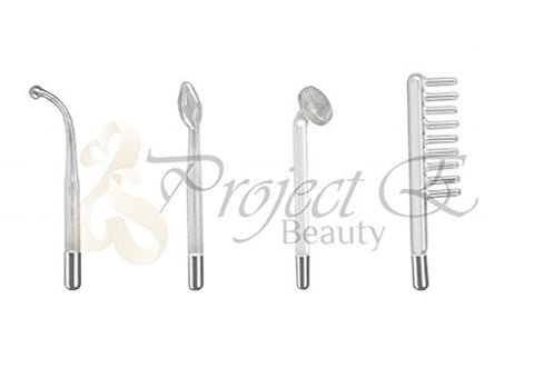 Project E Beauty 11mm High Frequency Device Argon Gas Violet Hook Mushroom Spoon Comb Electrode Set