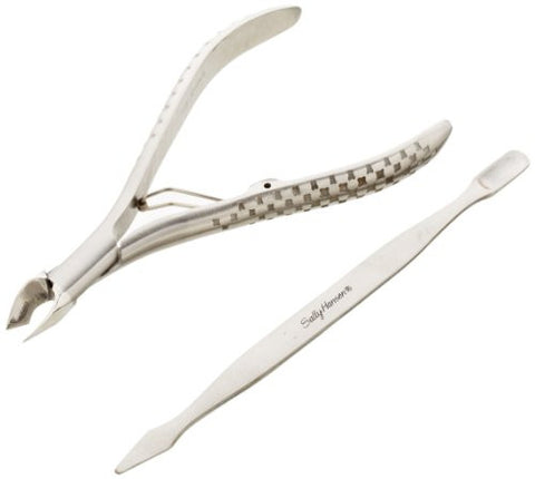 Sally Hansen Beauty Tools, Nip'em Neat Cuticle Nipper With Pusher, 1/2 Jaw