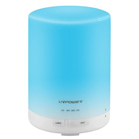Urpower 2nd Gen 300ml Aroma Essential Oil Diffuser Night Light Ultrasonic Air Humidifier With Auto S