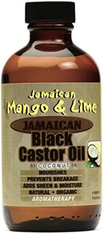 Jamaican Mango & Lime Black Castor Oil With Coconut, 4 Oz (Pack Of 4)