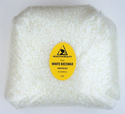 93d90597fe9 White Beeswax Bees Wax Organic Pastilles Beads Premium Prime Grade A 100%  Pure 48 Oz ...
