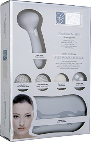 Global Beauty Care Premium Power Brush Skin Cleansing System (Grey)