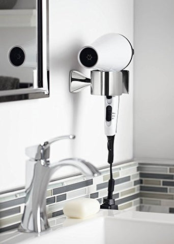 Moen Yb5170 Ch Voss Bathroom Hair Dryer Holder, Chrome