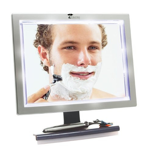 Toilet Tree Products Deluxe Led Fogless Shower Mirror With Squeegee, 1.45 Ounce